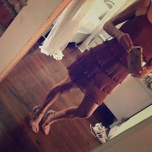 Vivienne Tam Party Dress chiffon ruffles XS